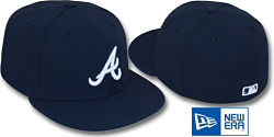 NEW ERA BRAVES PERFOMANCE ALTERNATE  FITTED CAP