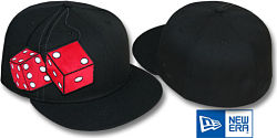 NEW ERA FUZZY DICE BLACK-RED FITTED CAP
