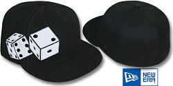 NEW ERA FUZZY DICE BLACK FITTED CAP