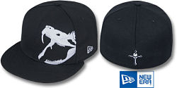 NEW ERA RATTLER BLACK-WHITE FITTED CAP