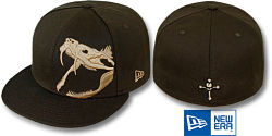 NEW ERA RATTLER BROWN WHEAT FITTED CAP