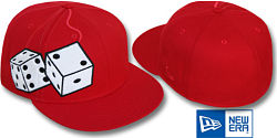 NEW ERA FUZZY DICE RED FITTED CAP