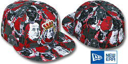 NEW ERA RED WARHOL FITTED CAP