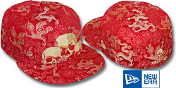 NEW ERA TRI-SKULL SHADOW RED DRAGONS FITTED CAP