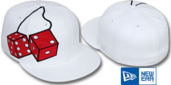 NEW ERA FUZZY DICE WHITE FITTED CAP
